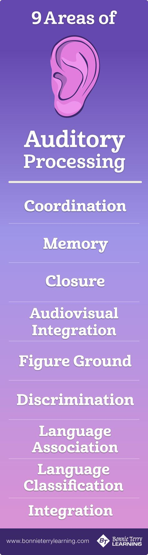 Areas of Auditory Processing