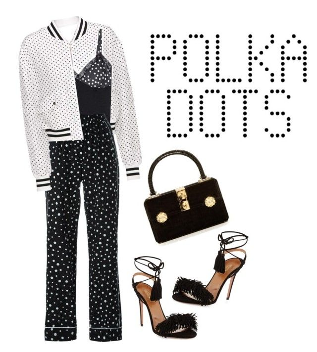 """So Dotty *3"" by kryssicha on Polyvore featuring Dolce&Gabbana and Aquazzura"