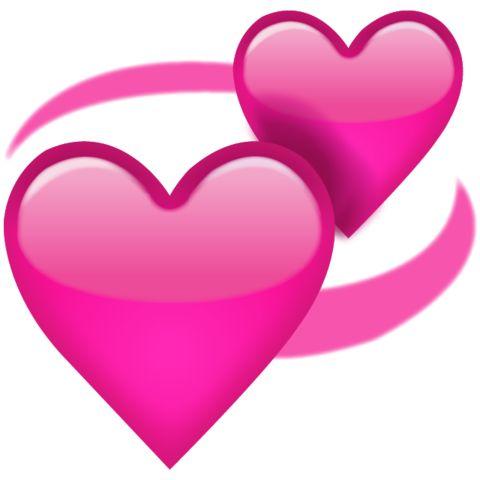 Download Revolving Pink Hearts Emoji Icon