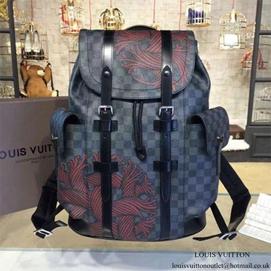 65de98e3 Louis Vuitton N41709 Christopher PM Backpack Damier Graphite Canvas ...