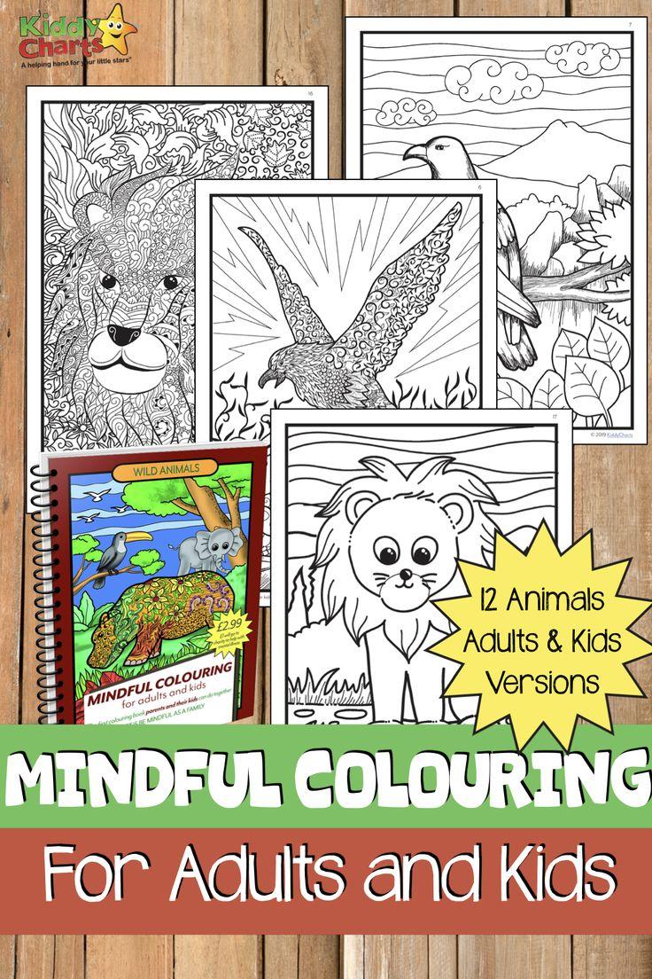 Wild animals mindfulness colouring book | Mindfulness ...