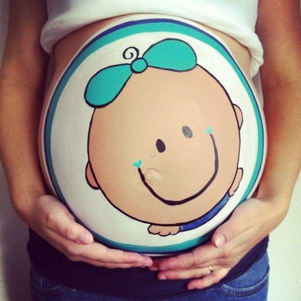 15 Hermosos dibujos para hacer en tu pancita de embarazada