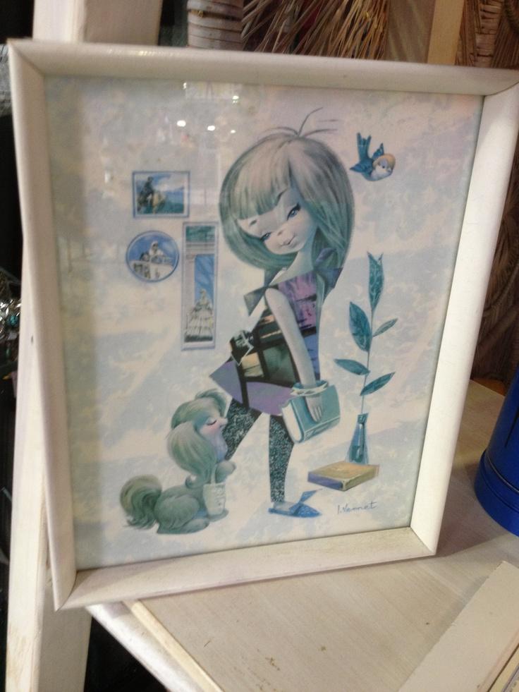 Looking for framed 1960's kitsch? The Mill Markets - Ballarat, Daylesford & Geelong (from Stall #678 Geelong) www.millmarkets.com.au