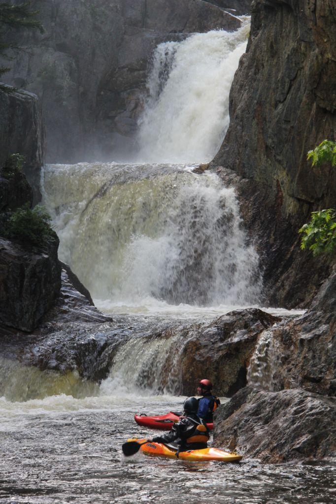 Whitewater kayaking the Smalls Falls ~ Maine