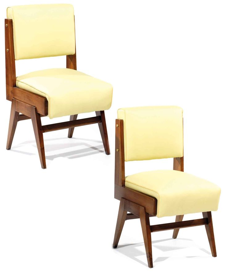 Giovanni Michelucci; Mahogany and Brass Side Chairs, 1948.