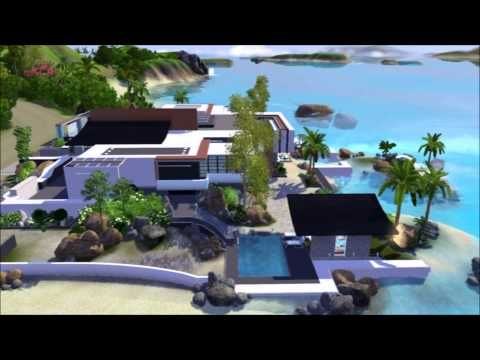 Tropical seaside house - The Sims 3 (no CC) dwnl. link - YouTube