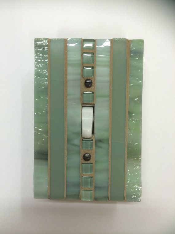Green Stained Glass Light Switch Cover by JudyEvansCollection
