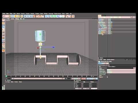 Tutorial Cinema 4D bielle, vilebrequin et piston en dynamic - YouTube