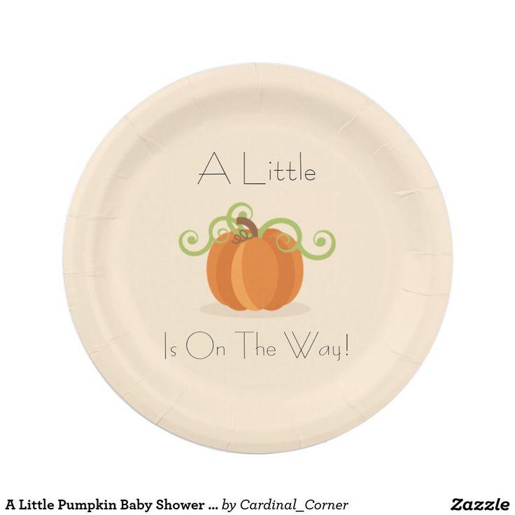 A Little Pumpkin Baby Shower Plates 7 Inch Paper Plate