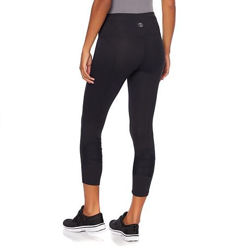 Balance by Marika London Mesh Calf Legging - Heather Black