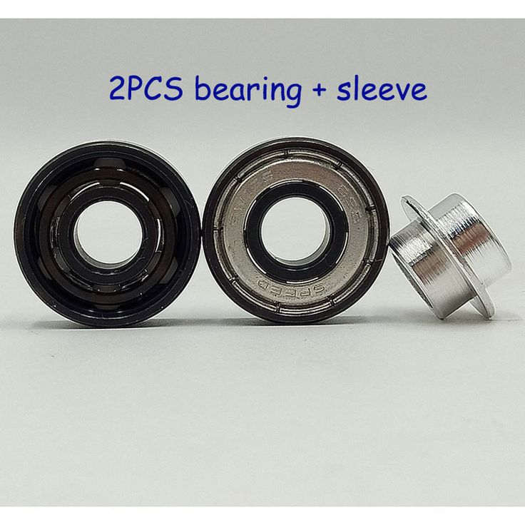 Superior speed skate 608 bearing high speed Swiss BSB white ceramic bearing sales 2PCS + sleeve skateboard bearing