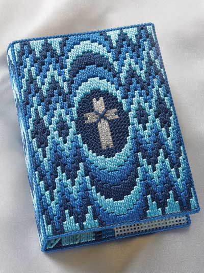 Plastic Canvas - Projects for the Home - Spiritual Patterns - Bargello Bible Cover