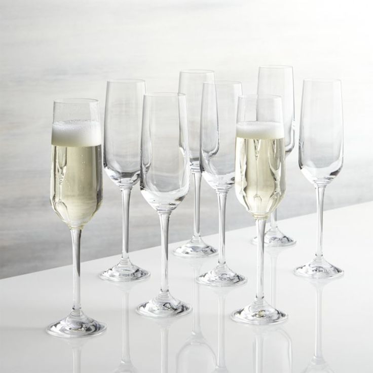 Nattie's tulip-shaped bowls square up just a bit to put a modern angle on classic glassware. Machine-made to look handcrafted, these glasses are a great value and available in a range of shapes to bring out the best of red, whites and sparkling wines.How to set up a mimosa bar.