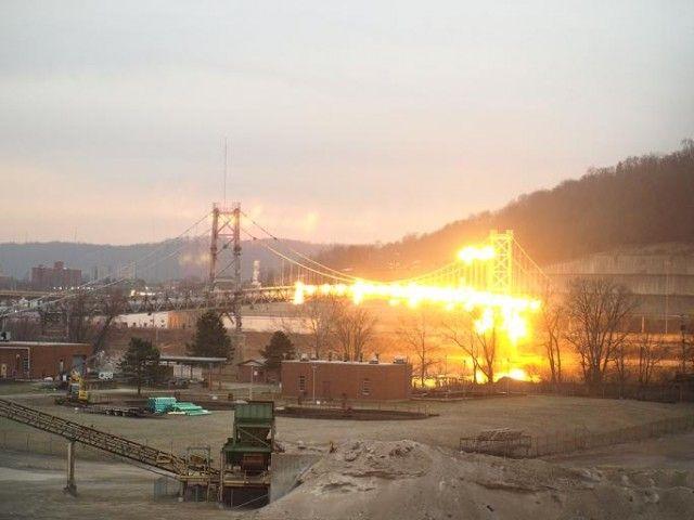 Spectacular Controlled Demolition of Ohio River Bridge