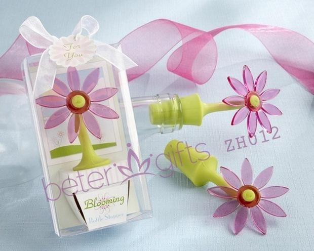 livraison gratuite 100 fleur boîte de bouchon de bouteille de mariage nouveauté décoration de bulles de savon mariage faveurs et de cadeaux zh012