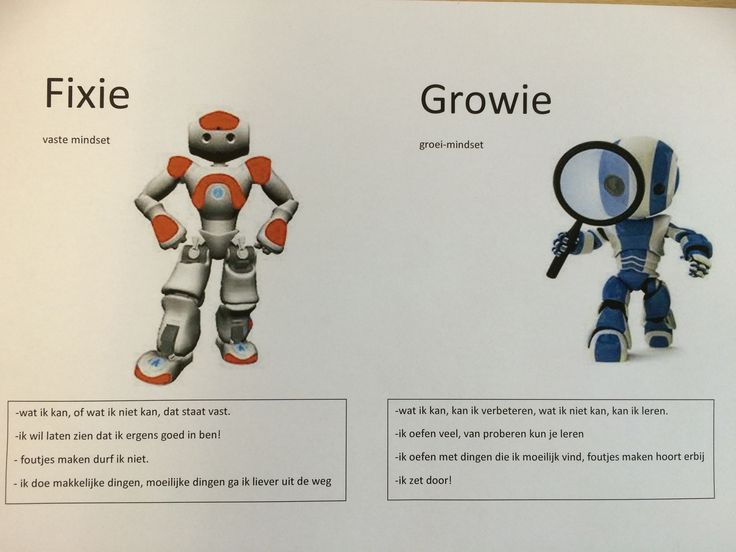 Growie en Fixie  Growth mindset en fixed mindset Theorie van Carol Dweck
