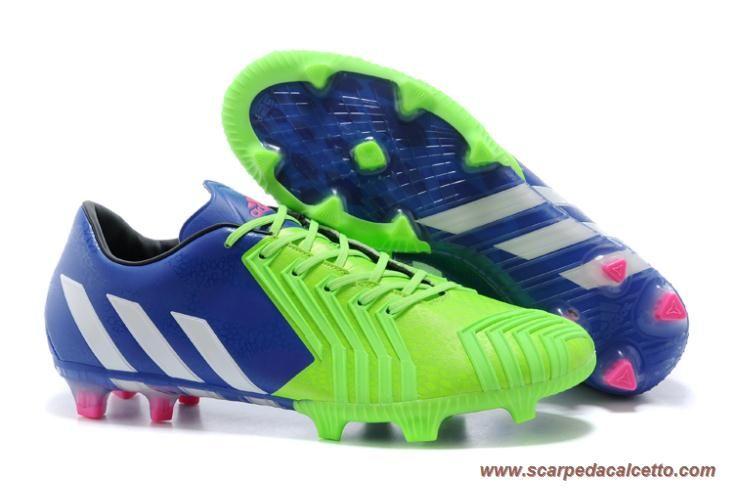 scarpe da calcio Uomo Rich Blu/Bianco/Solar Verde ADIDAS PRossoator 14 Instinct FG Halloween
