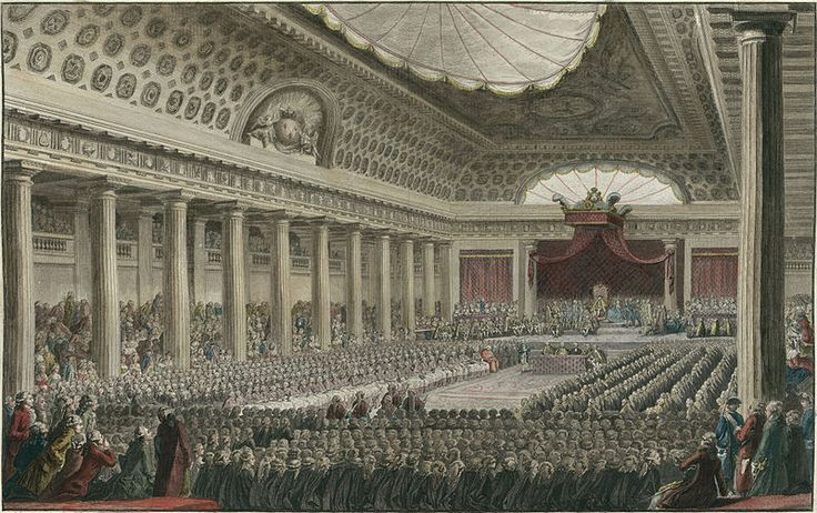 The Estates-General of 1789 was the first meeting since 1614 of the French Estates-General, a general assembly representing the French estates of the realm: the clergy (First Estate), the nobles (Second Estate), and the common people (Third Estate). Summoned by King Louis XVI to propose solutions to his government's financial problems, the Estates-General sat for several weeks in May and June 1789 but came to an impasse.