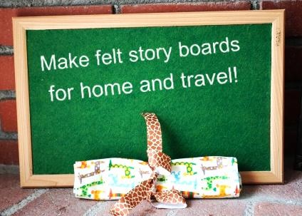 How to make felt story boards for your kids or classroom!