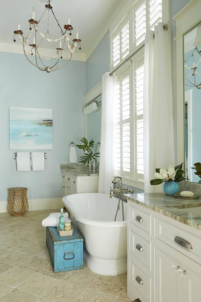Best 25 coastal bathrooms ideas on pinterest beach for Beach inspired bathroom designs