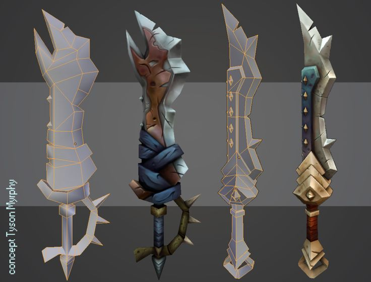 hand_painted_weapons_by_ricedeviantart-d50ke22.png (900×685)