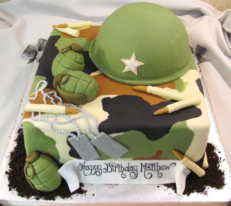 Military  grooms cake