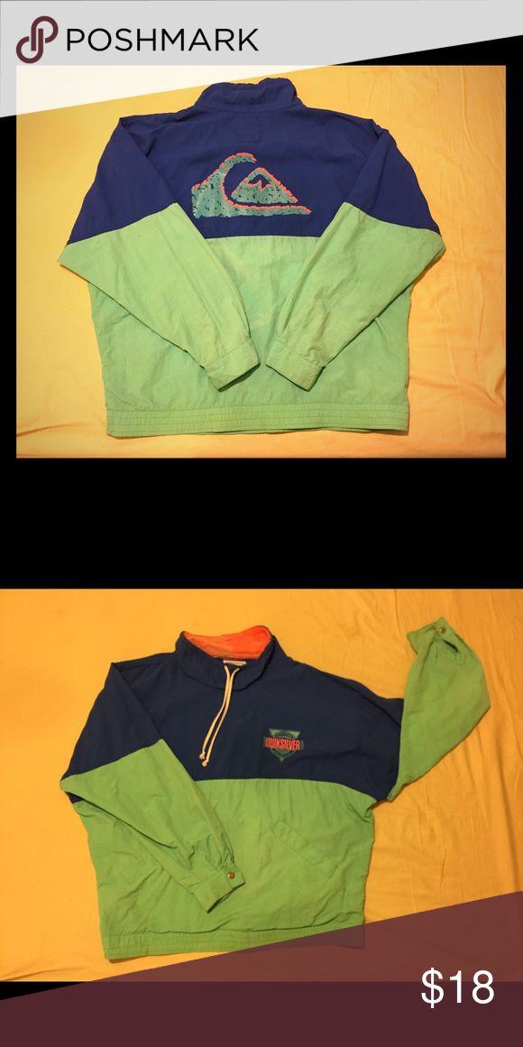 Vintage Quiksilver Pullover Windbreaker Vintage Quiksilver Pullover Windbreaker Size Large Minimal fading on back due to age of Jacket Quiksilver Jackets & Coats Windbreakers