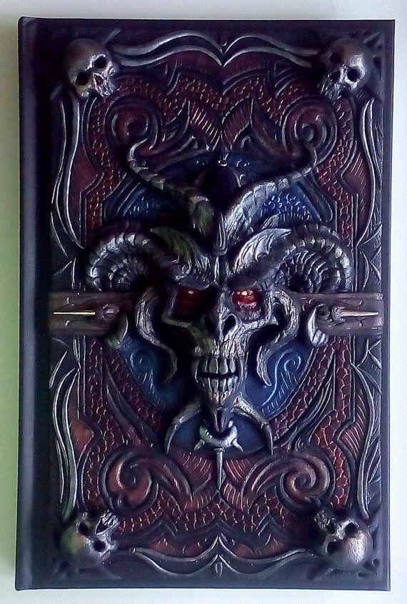 A5 Dark Lord, Polymer Clay Journal, Fantasy, Gothic, Horror, 98 leere Blätter