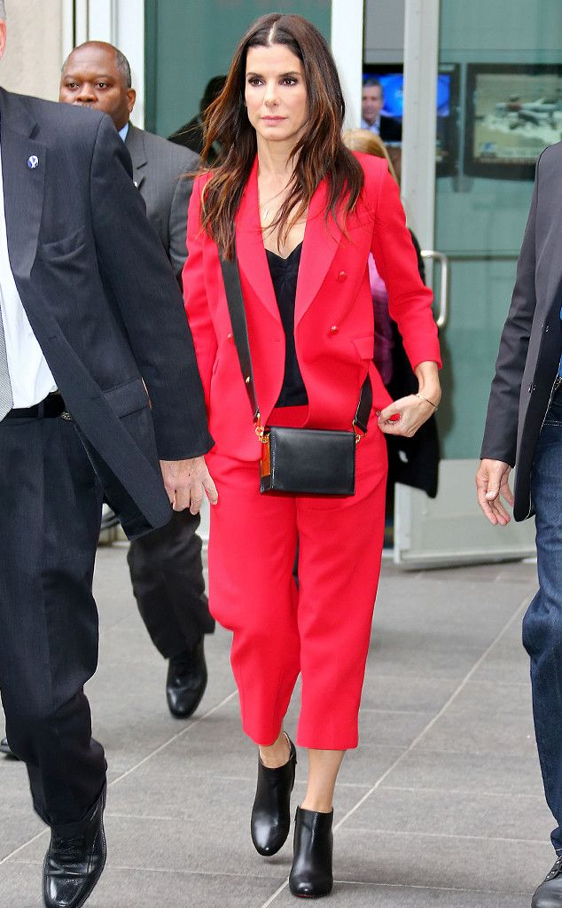 Sandra Bullock from The Big Picture: Today's Hot Pics  Ravishing in red! TheOur Brand Is Crisis actress steps out in New York City.
