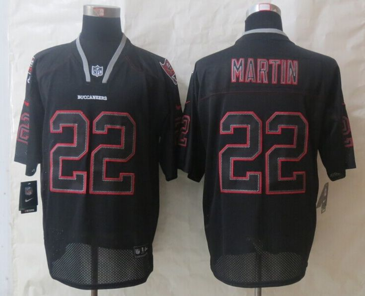 Men's NFL Tampa Bay Buccaneers #22 Martin Lights Out Black
