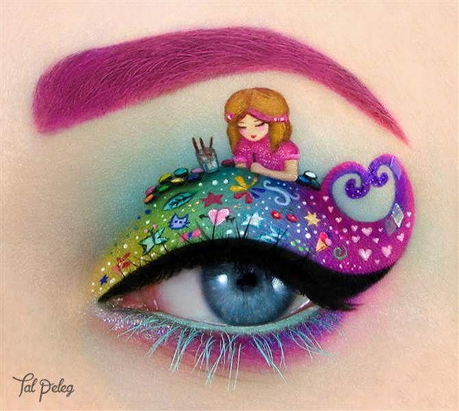 Eye art: Child artist (Barbie project) - Tal Peleg