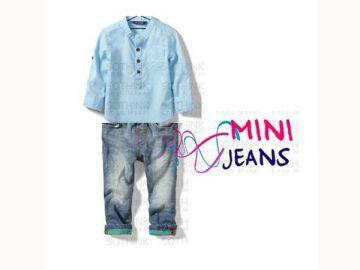 BS1169, @143k, Bahan : Katun, Jeans.  Warna : Biru.  Ket : Untuk anak usia sekitar 2 - 7 tahun.