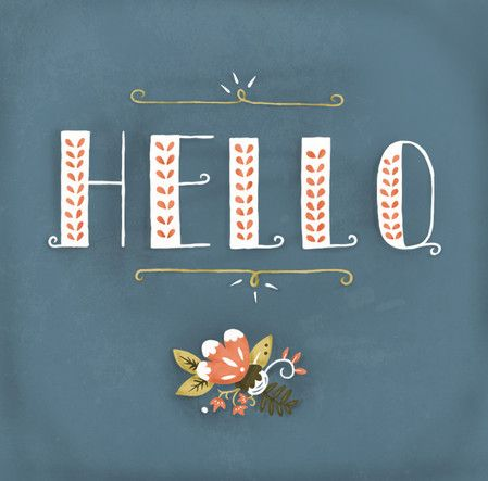 hello: Hello, Graphic, Inspiration, Color, Illustration, Design, Katie Evans, Hand Lettering