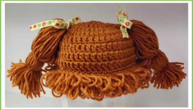 I got an order through etsy for a cabbage patch hat like the first one I made (see the first hat, and learn the loop stich, by clicking here: Cabbage Patch Hat), however when I went to try to follo...