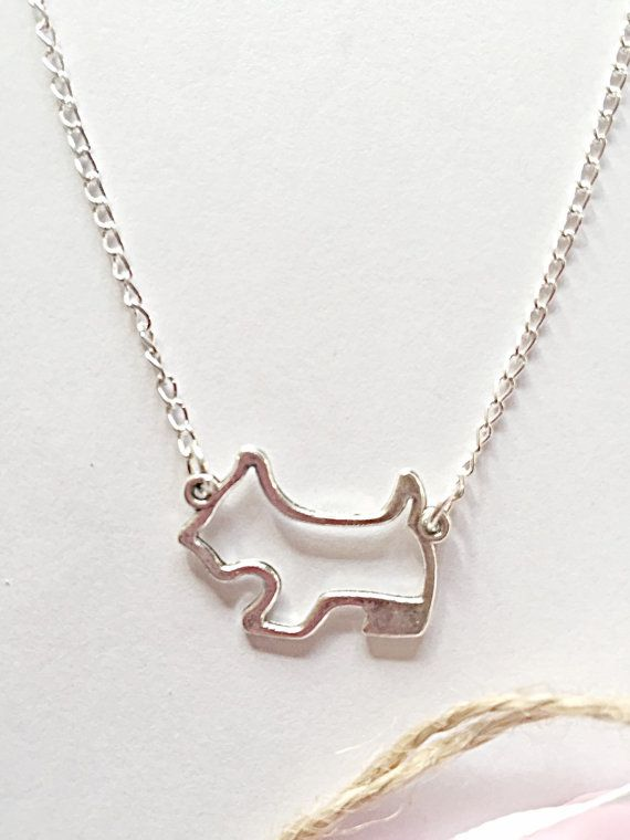 Terrier Dog Necklace Dog Jewelry Dog Pendant by EmmaFleet