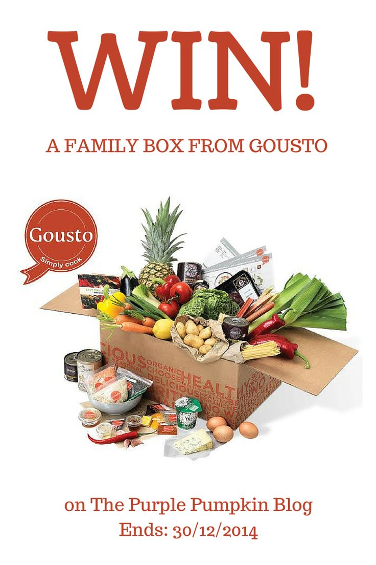 Win a Family Box from Gousto. Ends: 30/12/2014