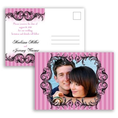French Flourish - Begonia - Save the Date Postcard