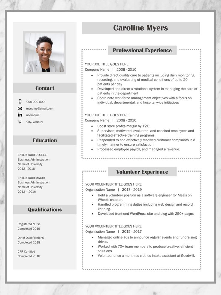 38+ Resume template examples 2019 Format