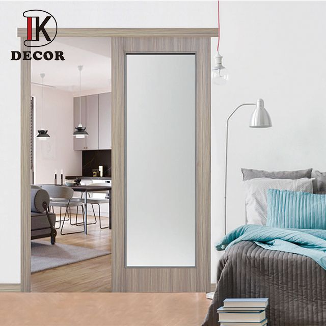 Decor Wooden Interior Pocket Door With Glass In 2020 Interior Pocket Doors Glass Pocket Doors House Doors