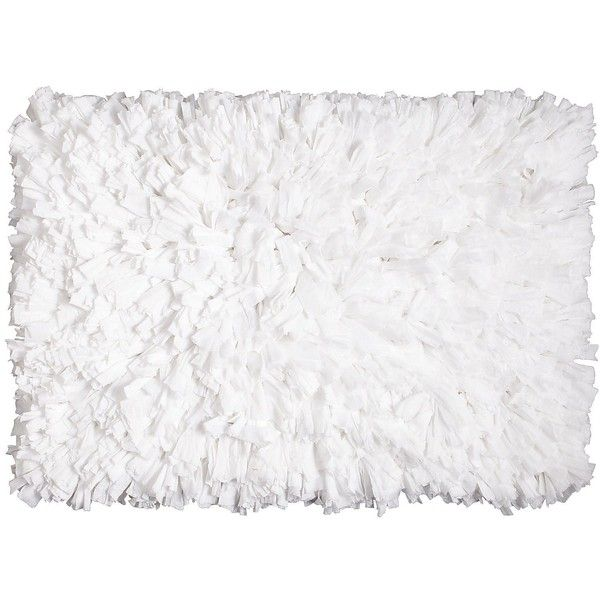 Pier 1 Imports Fluffy Shag Rug ($25) ❤ Liked On Polyvore Featuring Home,