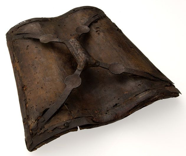 shield; buckler /  Wood, leather and iron shield, probably Italian, mid 16th century