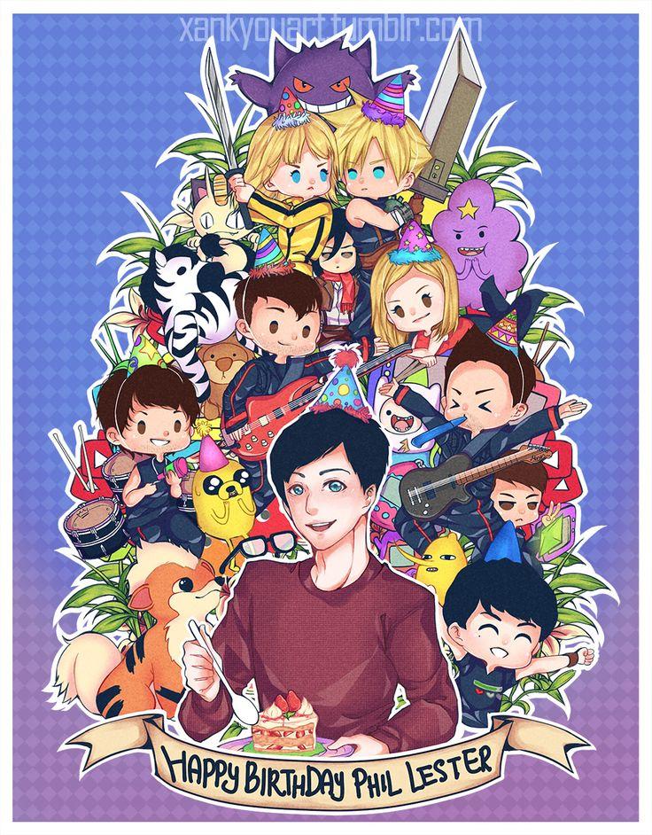 xankyouart:  。:.゚ヽ(´∀`。)ノ゚.:。+゚ Happy Birthday to the most amazing person on the internet, @amazingphil!!゚+。:.゚ヽ(*´∀`)ノ゚.:。+゚   THIS IS INCREDIBLE!! THANK YOU