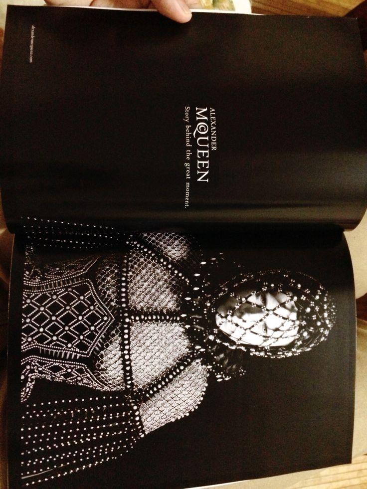Publication design assignment. Alexander McQueen biography.