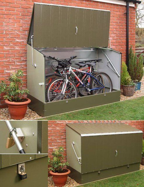 Una manera de guardar tu bicicleta.