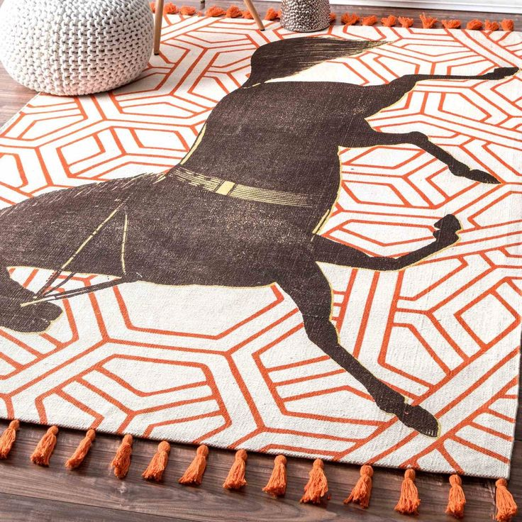 Hand Woven Mare Orange Area Rug Products Pinterest