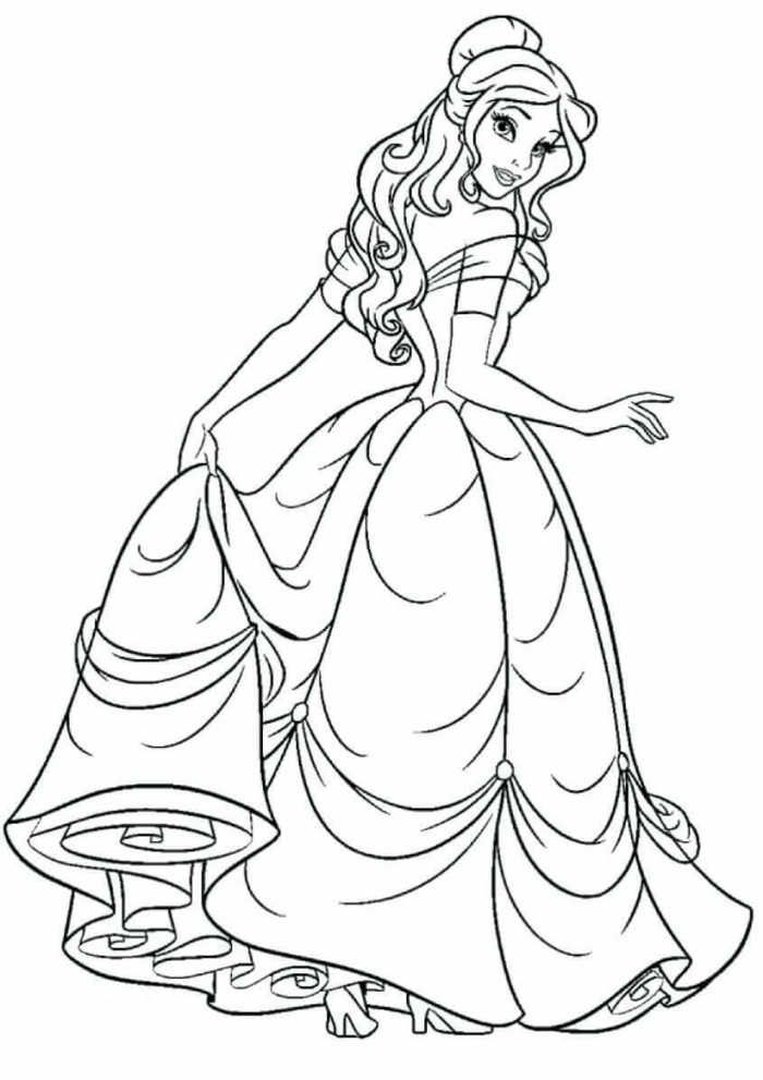 Printable Princess Coloring Pages Disney Princess Coloring Pages Disney Princess Colors Belle Coloring Pages