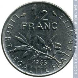 France ½ franc 1965