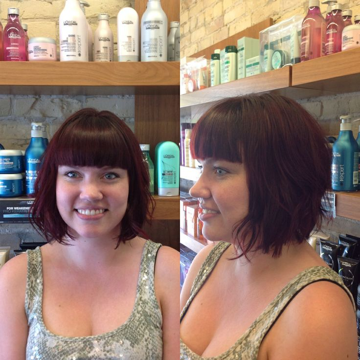 Beautiful redhead created by Salon Entrenous Stylist Lola
