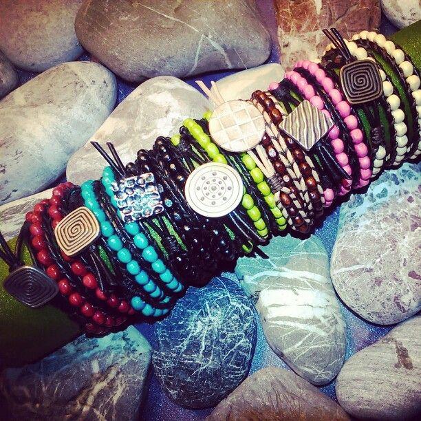 Wooden Bracelets/Triple