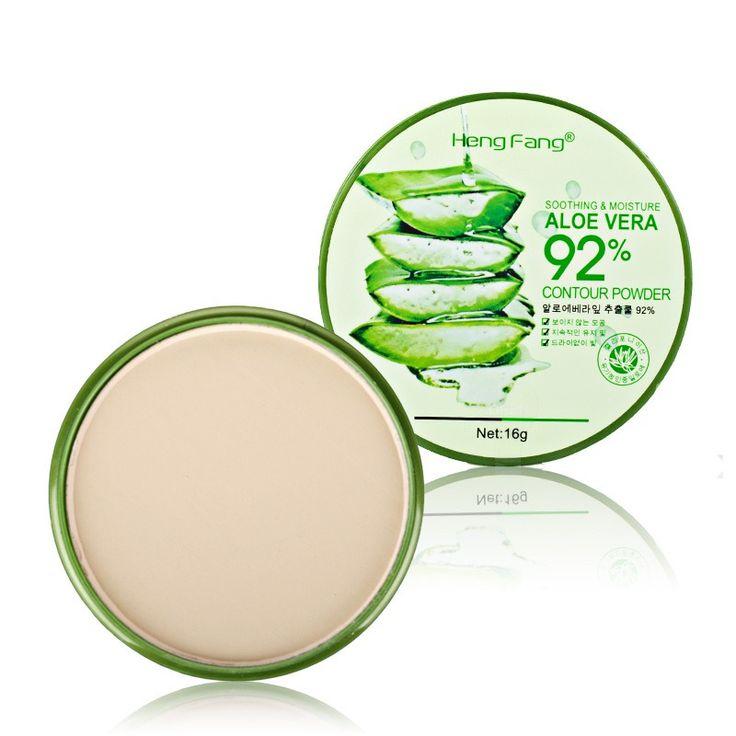 1 pcs Makeup Aloe Concealer Oil-control 3 Warna Contour Bedak Bedak Padat 16g Fashion Untuk Wanita